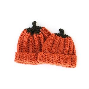 Other - Crocheted Pumpkin Hat